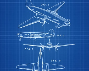 1939 Lockheed Airplane Patent - Vintage Airplane, Airplane Blueprint, Airplane Art, Pilot Gift,  Aircraft Decor, Airplane Poster,