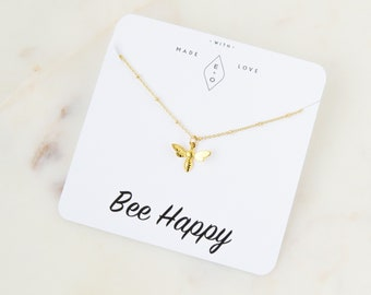 Bee Necklace | Gold Necklace | Bee Jewelry | Birthday Gift | Dainty Necklace | Minimalist Necklace | Best Friend Gift | Gift Idea