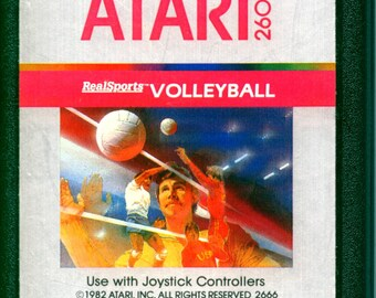 Atari 2600 Realsports Volleyball Game Cartridge