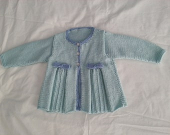 Blue Pleated Bow Jacket