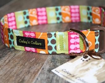 """Dog Collar, Dog Collars, Stripe Dog Collar, Modern Dog Collar, Girl Dog Collar, Boy Dog Collar, Male Female Dog Collar, """"The Selma"""""""