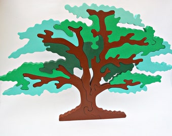 Tree Toy Wooden Toy Waldorf Tree Toy Waldorf Nature Table 3D Puzzle Wooden Puzzles Handmade Birthday Gift