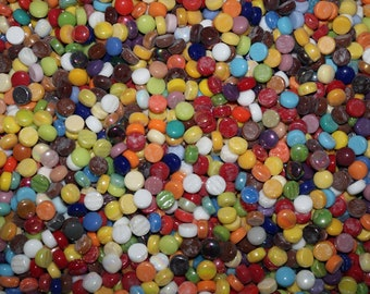 12mm ASSORTED Glass Dots in Assorted Colors (2 LBS. = approx. 540 pieces)