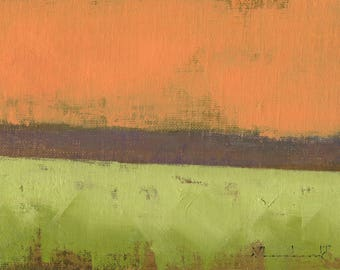 And All Our Yesterdays - Oil Painting Original Abstract Landscape Painting - 5 x 7