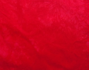 Red Hand-Dyed Quilting Cotton Fat Quarter