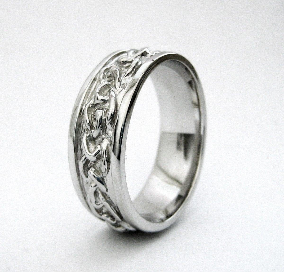 Men S Celtic Wedding Band Handmade Love Knot Braid Ring