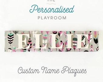 Custom Made Name Plaque