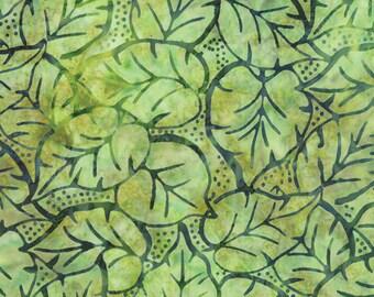Green Batik Fabric - Catalina Batik for Moda Fabrics - Tropical 4329 41 - Priced by the 1/2 yard