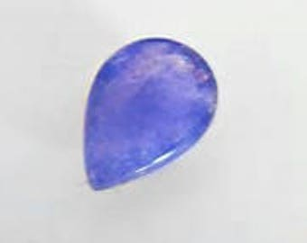 5 Pieces Natural Tanzanite pear Shape Flat Back Gemstone Cabochon