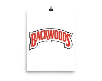 Reworked Custom Made Backwoods Smoking Rolling Papers Spell Out Wall Poster, Backwoods Poster, Backwoods Wall Art, Smoking Poster
