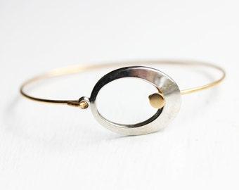 Mixed Metal Circle Hook Bracelet