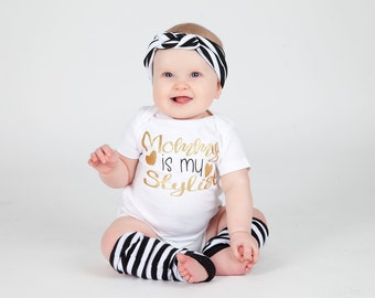 Mommy Is My Stylist - Mummys Girl- Mummy And Me  - New Baby - Baby Bodysuit - Baby Girl - Hipster Clothing