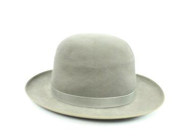 60s Resistol Self Conforming Felt Hat Fedora Gray 6 3/4 Vintage 1960s Rockabilly Hipster