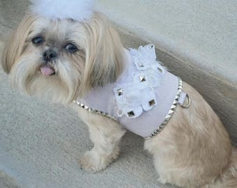 Rock Couture Lavender Ultrasuede Studded Designer Dog Harness