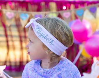 Personalized Toddler Headband -  Name headband set - Name toddler headband - Top knot headband - Personalized headbands for girls