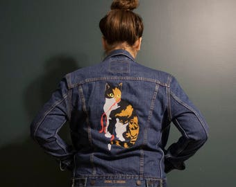 Steampunk jacket - extravagant reworked vintage jacket, wearable art, hand  embroidered and beaded details
