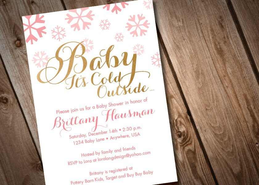 DIY Printable Baby It\'s Cold Outside Baby Shower