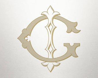Wedding Invitation Monogram - GI IG - Invitation Monogram - Vintage
