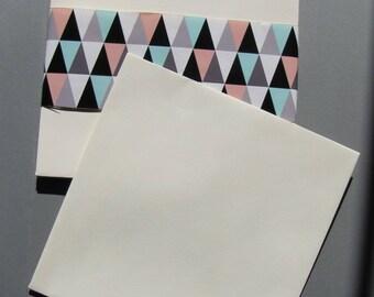 Set of 10 square ivory 17cm x 17cm LANA stationery envelopes