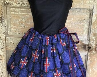 Doctor Who Tardis skirt One size