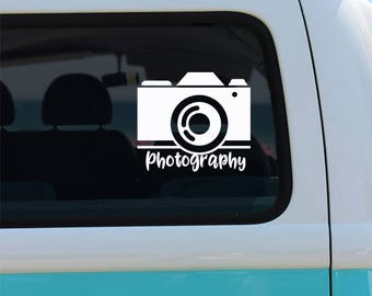 Photography Vinyl Window Decal - Car Decal - Camera Decal - Photographer Decal - Photography Decal - Camera - Photography - Decal