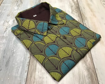 Men's shirt with fancy Ginko leaves