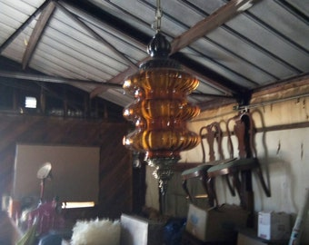 Mid-Century Hanging Swag Lamp Rewired!