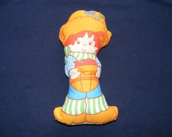 Strawberry Shortcake Huckleberry Pie Doll, Vintage Doll, Stuffed Doll, Old Stuffed Doll