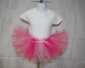 Valentine tutu skirt dark and light pink Birthday tutu