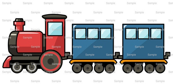 Cartoon Train Birthday Topper - Edible Cake and Cupcake Topper For Birthday's and Parties! - D9176