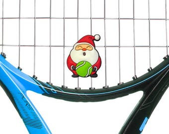 Santa Claus Holiday Tennis Racquet Vibration Dampener by Racket Expressions, Comes as a 2 Pack