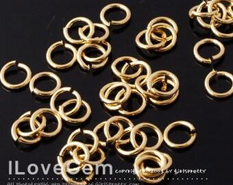 SALE / 50 gram / Jumpring, 16KT Gold-plated, 5mm round, 20 gauge, 0.8X5mm, Jump Rings