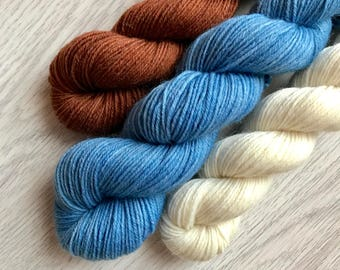 Vägvarda Socks Set, Trekkingyarn, handdyed, 4 ply, 75 wool / 25 polyamide