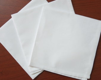 "100 white cotton women's handkerchiefs, 11""x11"""