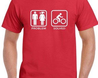 Problem Solved Cycling - Mens Funny T-Shirt