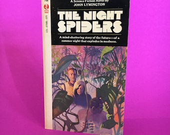 Vintage Sci Fi Book The Night Spiders by John Lymington Science Fiction Novel Retro Future Fantasy Literature 1965
