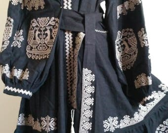 Ukrainian embroidery, embroidered dress, Bird, XS - 4XL, Ukraine