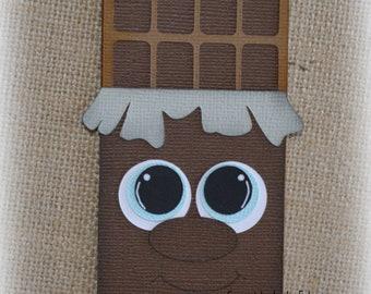 Junk Food Chocolate Shopkins Premade Scrapbooking Embellishment Paper Piecing