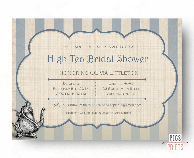 Cute Tea Party Invitations Bridal Shower Ideas - Invitation Card ...