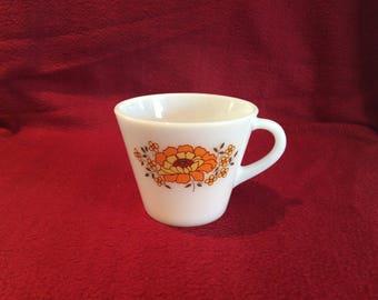 Pyrex JAJ Sunflower Tea Cup circa 1970