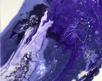 Agate Inspired Original Acrylic Flow Painting