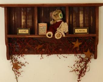 Shallow Decorative Cubby Shelf