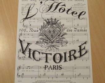 french market l'hotel victoire on vintage sheet music