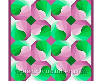 Yin and Yang quilt block pattern, paper pieced quilt patterns, instant download PDF patterns, yin yang patterns, geometric patterns