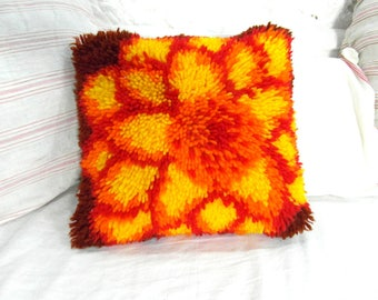 indian antique french cushions. French Vintage Floral Wool Pile Cushion, Retro Handmade 60\u0027s Home Indian Antique Cushions