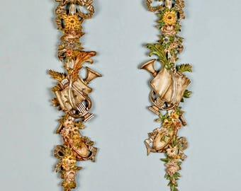 French Hand Carved Wood Architectural Ornament of Fruit and Flowers [6460]