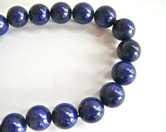Lapis Round Beads - Five (5)