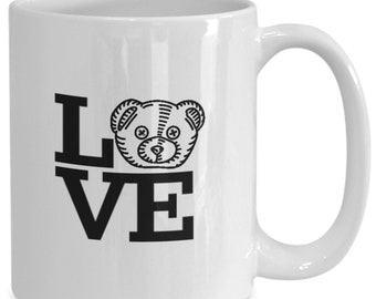 Teddy Bear Love - Fun Coffee Cup for Teddy Bear Lovers and Collectors - Ceramic Gift Mug