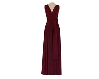 Infinity Wrap Dress Bridesmaid Dress Wine Long Dress Convertible Gown Wedding Octopus Maxi Skirt Formal Evening Prom Party Dress