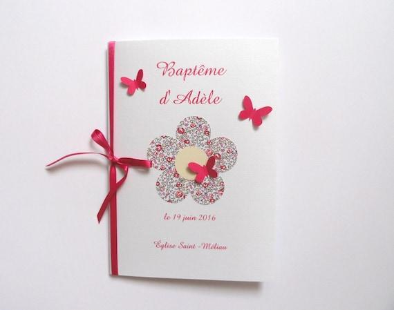 Couverture pour livret de messe blanc rose et liberty eloise for Livret des fleurs